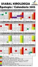 Calendario de apertura de 2015