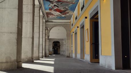 Esta semana comienzan las obras de renovación del pavimento de los soportales de la plaza Euskal Herria
