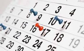 Calendario actividades curso 2018-2019