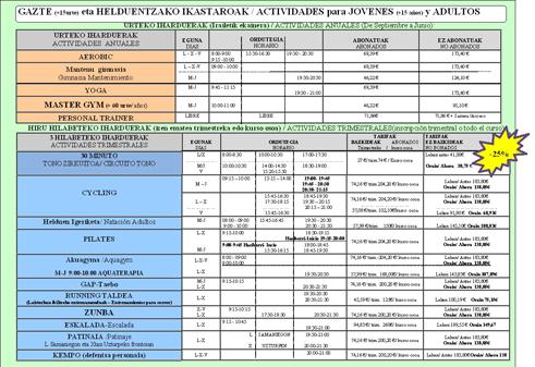 CURSOS 3er TRIMESTRE (del 1 Abril al 21 de Junio)